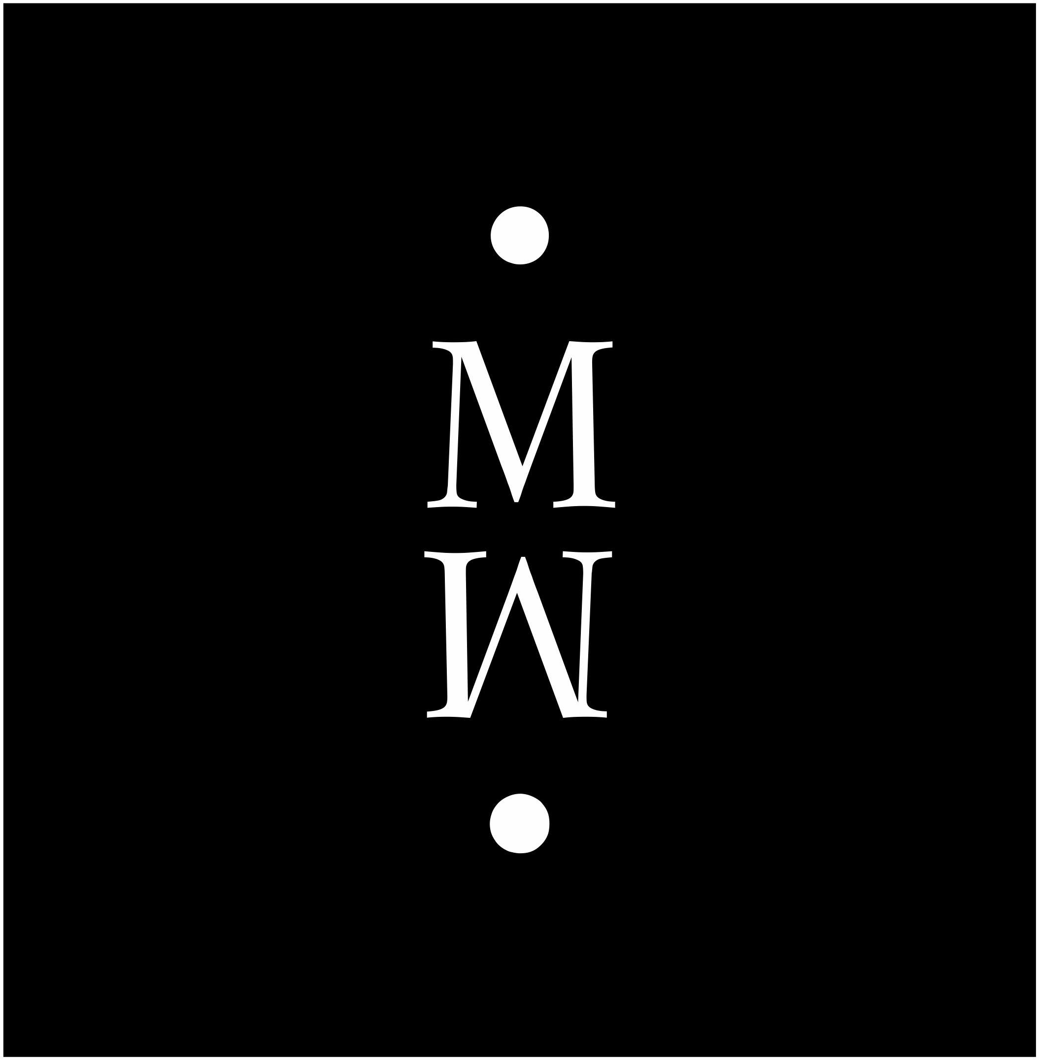 schwarzes MoosMoos Logo MM mit weißem Rand